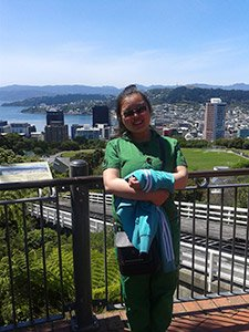 Chinese student, Rose Jin, in Wellington, New Zealand