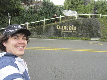 Tom O'Brien Dunedin American international student new zealand